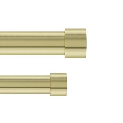 Umbra Cappa Double Set for Window Drapery – Extends from 66 to 120 Inches and Includes 2 Adjustable Curtain Rods, Matching Finials, Brackets & Hardware, 121.63 x 5.5 x 2.88, Brass $49.97 (Reg $52.52)