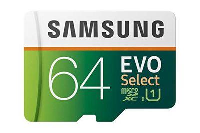 Samsung EVO Select 64GB microSDXC UHS-I U1 100MB/s Read Full HD & 4K UHD Memory Card with Adapter (MB-ME64HA) $17.49 (Reg $24.99)