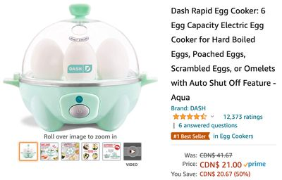 Amazon Canada Deals: Save 50% on Rapid Egg Cooker + 26% on Power Tower + 42% on Bug Zapper Mosquito Killer Lamp + More Offers