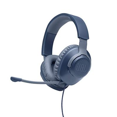JBL Quantum 100 Wired Over-Ear Gaming Headset with Detachable Mic and 3.5mm Audio Cable - Blue $39.98 (Reg $49.98)