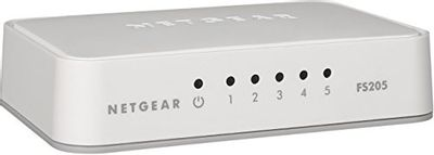 NETGEAR 5-Port Fast Ethernet 10/100 Unmanaged Switch (FS205) - Stylish Desktop for Home Office $9.99 (Reg $12.99)