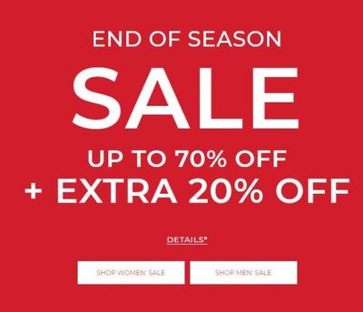 RW&CO. Canada End of Season Sale: Save Up to 70% OFF + Extra 20% OFF Many Items + More
