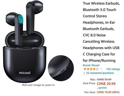 Amazon Canada Deals: Save 48% on Wireless Earbuds + 57% on Bluetooth Speaker + 44% on Bubble Machine with Coupon + More Offers