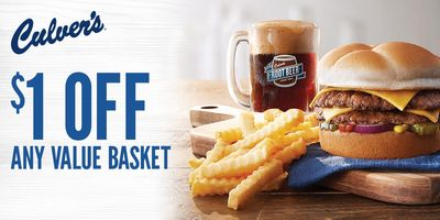 MyCulver's Members Check Your Inbox for a $1 Off Coupon Valid for a Limited Time at Culver's