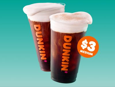 Dunkin' Donuts Debuts their New Cold Brew with Sweet Cold Foam