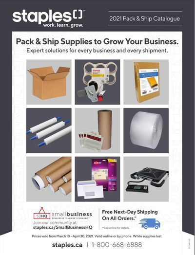 Staples Business Flyer March 10 to April 30