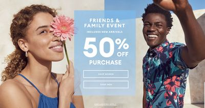 Banana Republic Canada Friends & Family Event Sale: Save 50% off Purchase