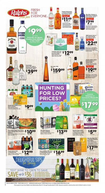 Ralphs fresh fare (DC, DE, FL, GA, MD, NC, SC, VA) Weekly Ad Flyer March 31 to April 27