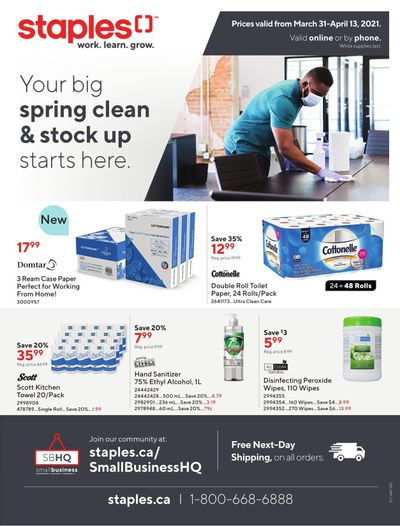 Staples Business Flyer March 31 to April 13