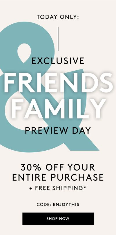 Naturalizer Canada Friends & Family Day Sale: Save 30% off your Entire Purchase Sitewide + FREE Shipping