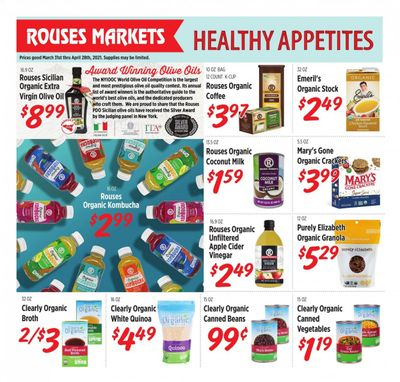 Rouses Markets (AL, LA, MS) Weekly Ad Flyer March 31 to April 28
