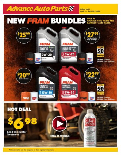 Advance Auto Parts Weekly Ad Flyer April 1 to April 28