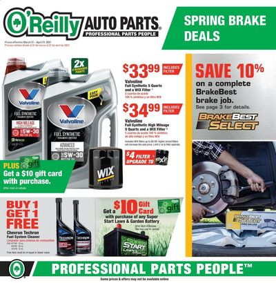 O'Reilly Auto Parts Weekly Ad Flyer March 31 to April 27