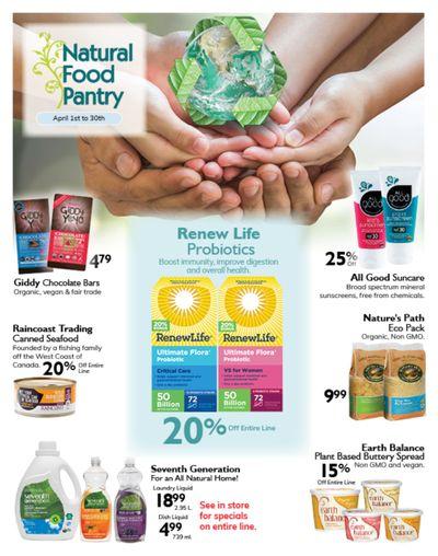 Natural Food Pantry Flyer April 1 to 30