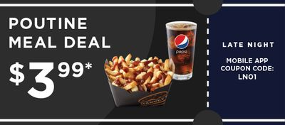 Poutine Meal Deal from HARVEYS!