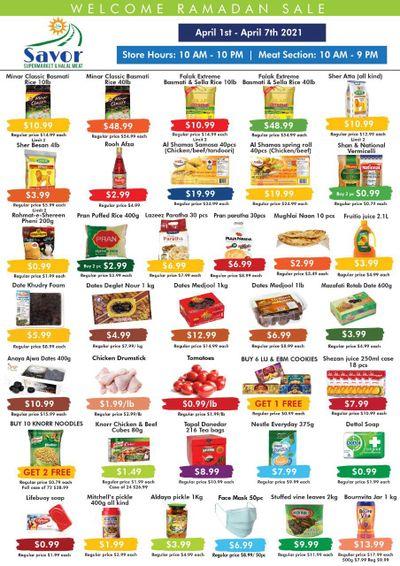 Savor Supermarket Flyer April 1 to 7