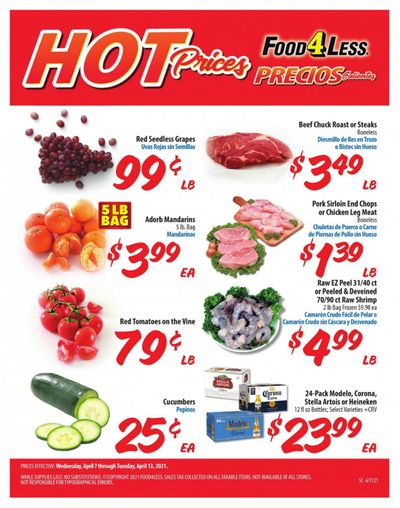 Food 4 Less (CA) Weekly Ad Flyer April 7 to April 13
