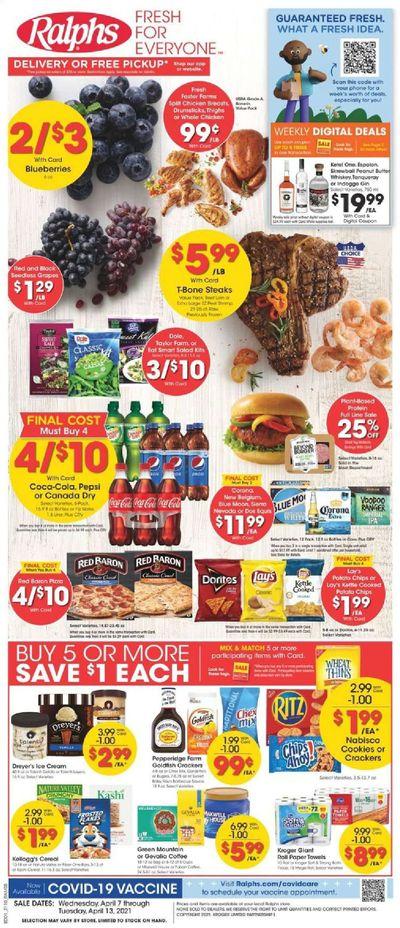 Ralphs (DC, DE, FL, GA, MD, NC, SC, VA) Weekly Ad Flyer April 7 to April 13