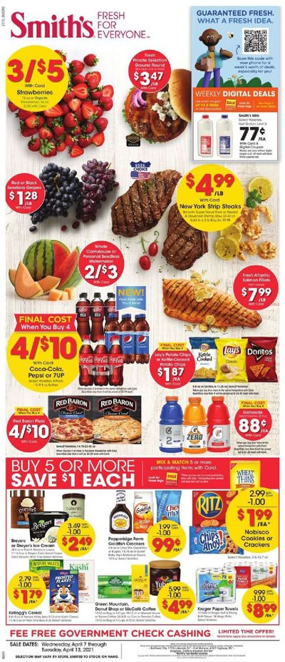 Smith's (AZ, ID, MT, NM, NV, UT, WY) Weekly Ad Flyer April 7 to April 13