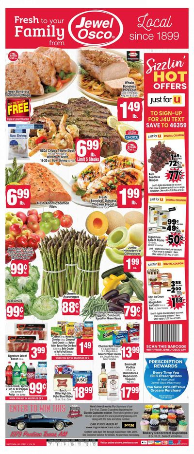 Jewel Osco (IN) Weekly Ad Flyer April 7 to April 13