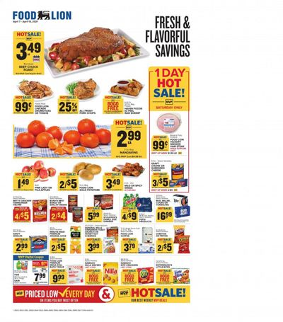 Food Lion (NC) Weekly Ad Flyer April 7 to April 13