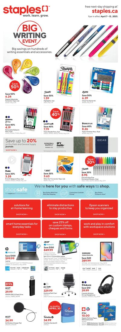 Staples Flyer April 7 to 13