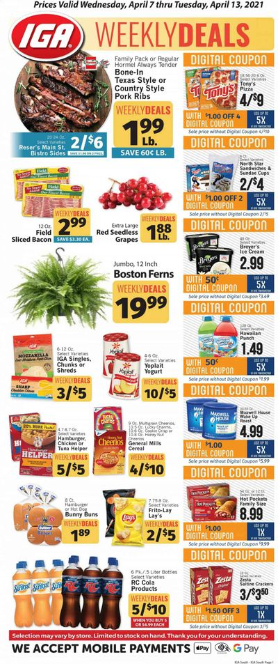 IGA Weekly Ad Flyer April 7 to April 13