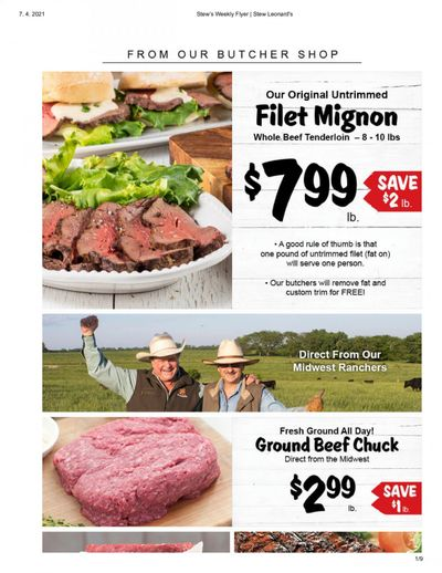 Stew Leonard's Weekly Ad Flyer April 7 to April 13