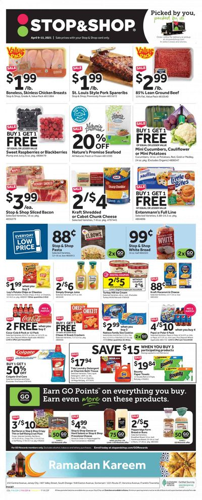 Stop & Shop (NJ) Weekly Ad Flyer April 9 to April 15