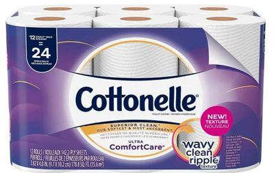 Staples Canada Deals: Save 55% off Cottonelle Ultra Comfort Care Double Roll Toilet Paper, 12 Rolls Pack, for $4.99