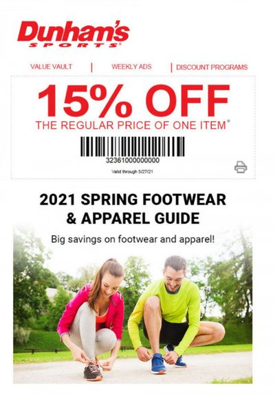 Dunham's Sports Weekly Ad Flyer April 9 to May 27