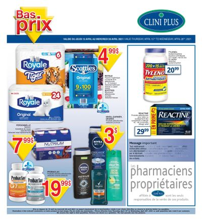 Clini Plus Flyer April 15 to 28
