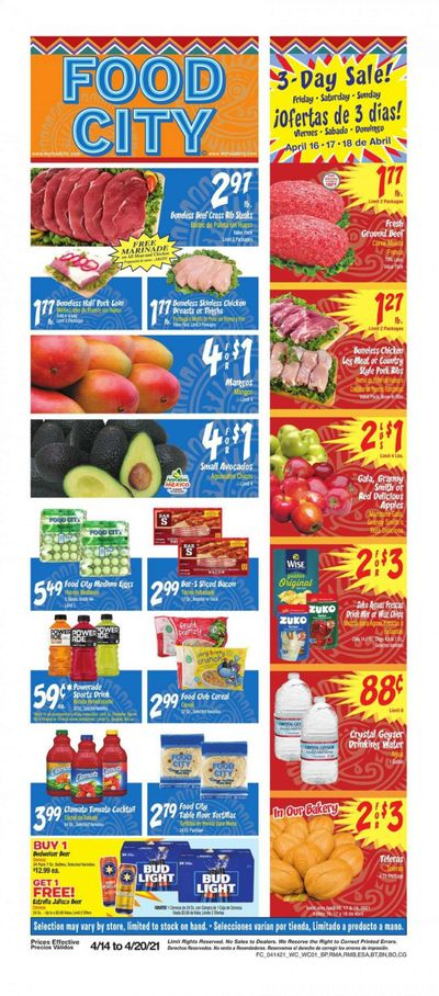 Food City Weekly Ad Flyer April 14 to April 20