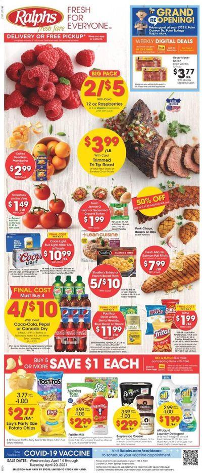 Ralphs fresh fare (DC, DE, FL, GA, MD, NC, SC, VA) Weekly Ad Flyer April 14 to April 20