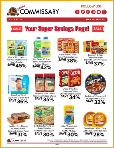 Commissary Weekly Ad Flyer April 12 to April 25