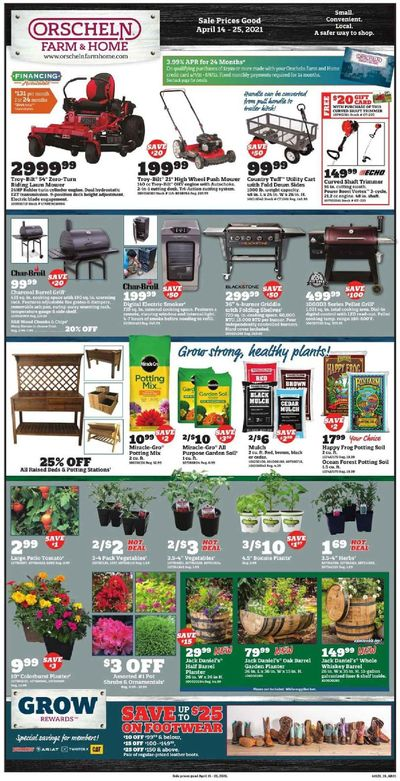 Orscheln Farm and Home Weekly Ad Flyer April 14 to April 25