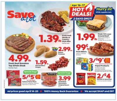 Save a Lot Weekly Ad Flyer April 14 to April 20