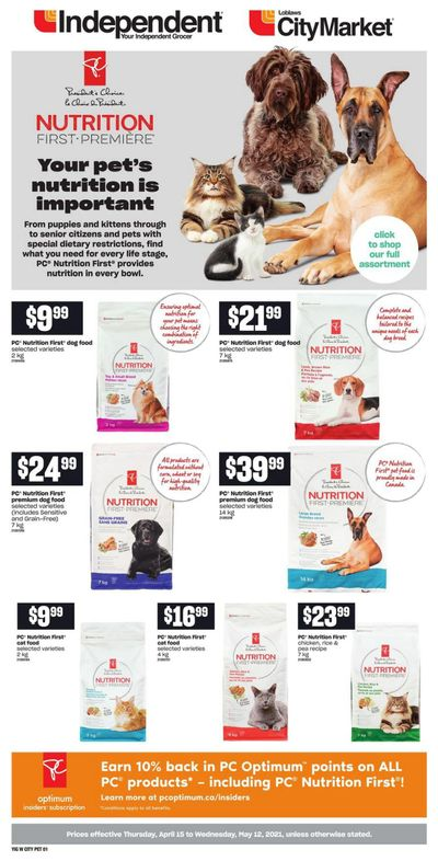 Loblaws City Market (West) PetBook April 15 to May 12