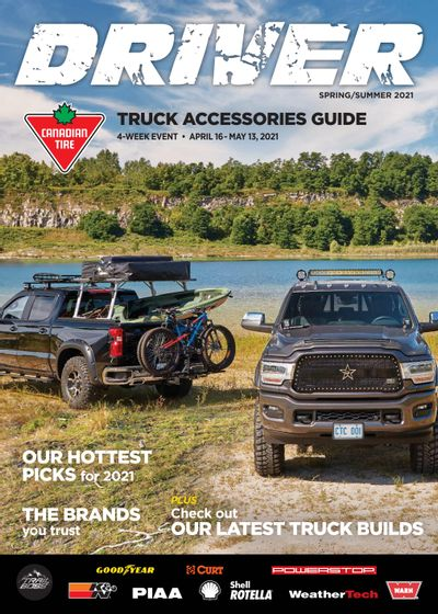 Canadian Tire DRIVER Truck Accessories Guide April 16 to May 13