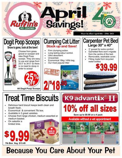 Rufiin's Pet Centre Flyer April 8 to 25