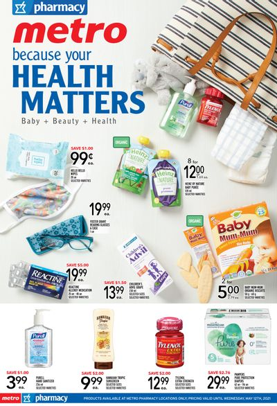 Metro (ON) Pharmacy Flyer April 29 to May 12