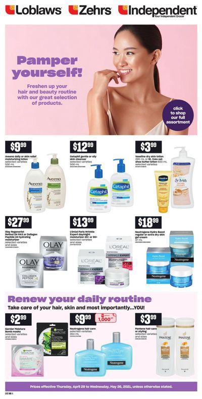 Loblaws (ON) Beauty Book April 29 to May 26