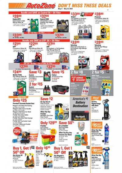 Autozone Weekly Ad Flyer May 4 to May 31