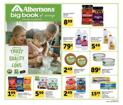 Albertsons (CA, ID, LA, MT, OR, TX, WA) Weekly Ad Flyer May 5 to May 25