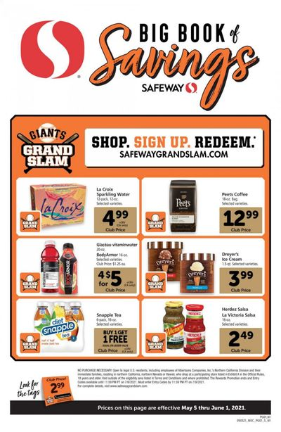 Safeway (AZ, CA, CO, HI, MD, NE, OR, VA, WA) Weekly Ad Flyer May 5 to June 1