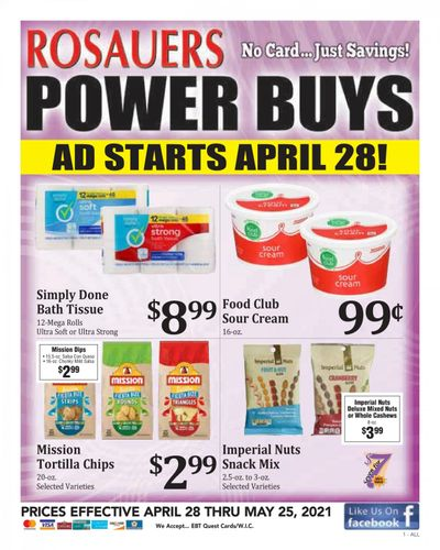 Rosauers (ID, MT, OR, WA) Weekly Ad Flyer April 28 to May 25