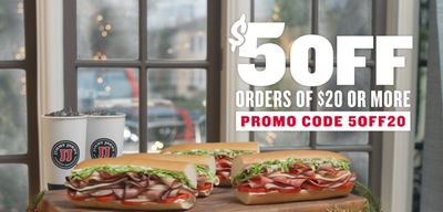 Jimmy John's Coupon Code For $5 Off $20 is BACK Online!