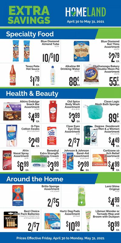 Homeland (OK, TX) Weekly Ad Flyer April 30 to May 31