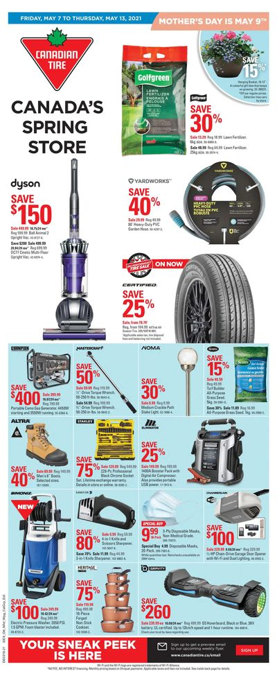 Canadian Tire (Atlantic) Flyer May 7 to 13