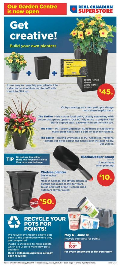 Real Canadian Superstore (ON) Garden Centre Flyer May 6 to June 2